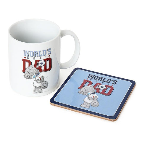 World's Best Dad Mug and Coaster Gift Set