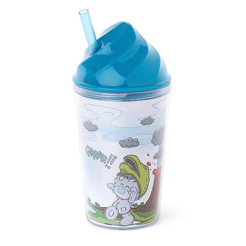 My Dinky Dino Hat Me To You Bear Tumbler With Straw