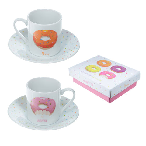 Donut Espresso Cup & Saucer (Set of 2)