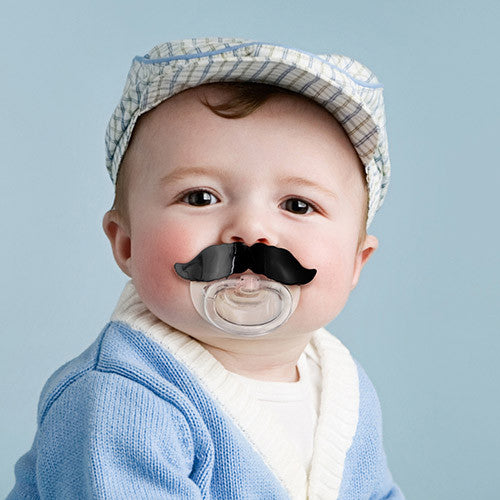 CHILL, BABY Mustache Pacifier