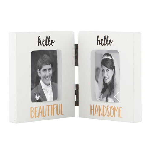 Hello Beautiful Hello Handsome Double Photo Frame