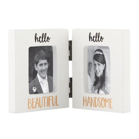 Hello Beautiful Hello Handsome Photo Frame