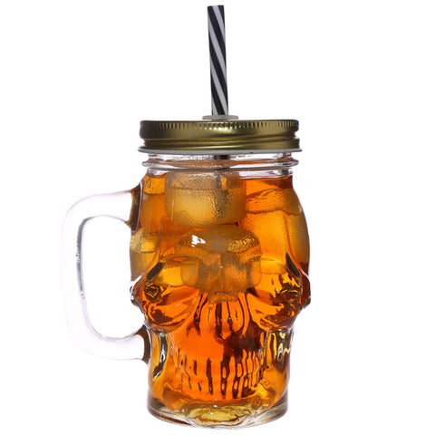 Skull Shaped Drinking Jar