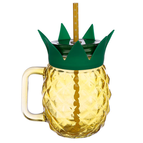 Pineapple Shaped Drinking Jar