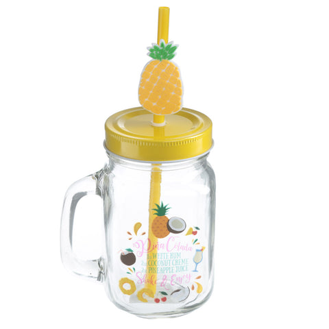 Pineapple Mason Drinking Jar