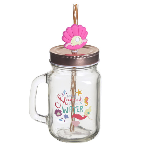 Mermaid Mason Drinking Jar