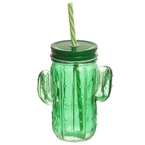 Cactus Shaped Drinking Jar