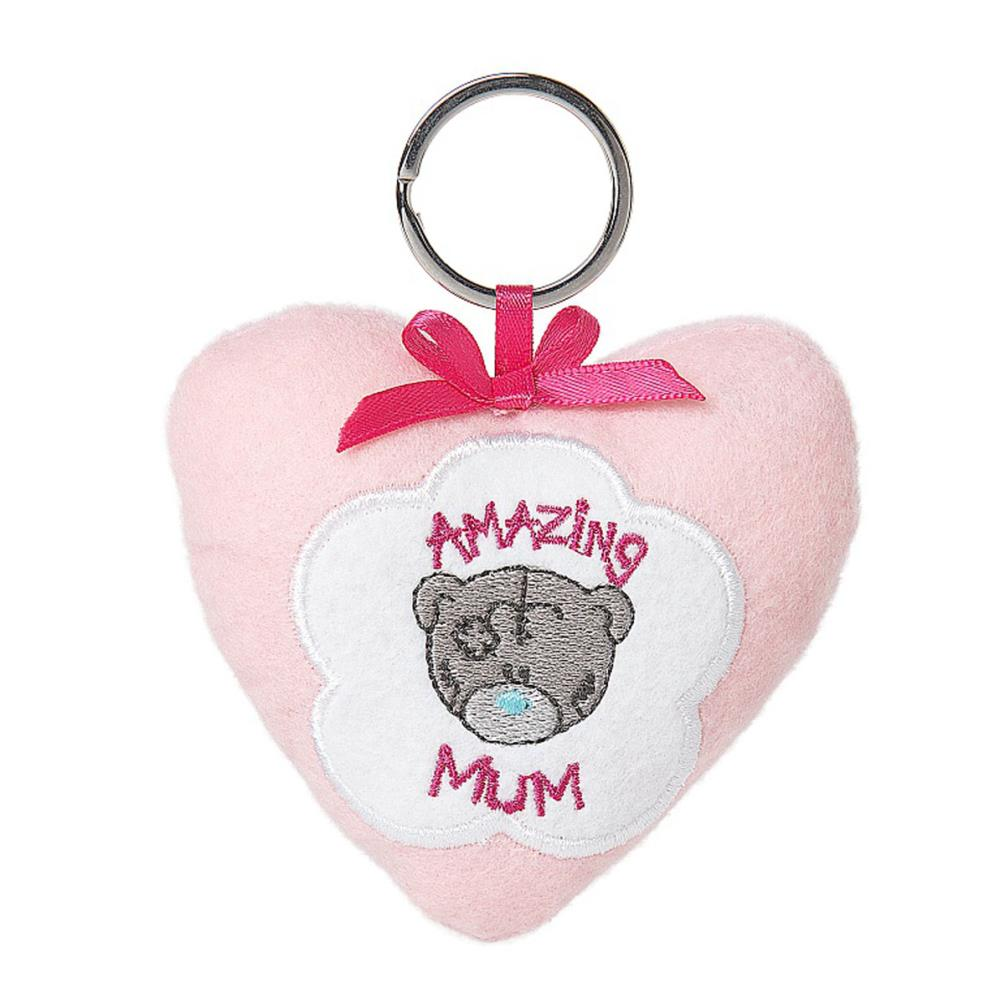 ''Amazing Mum'' Plush Heart Me to You Bear Keyring