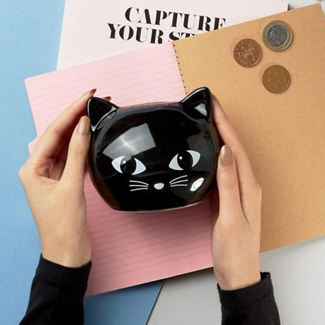 Black Cat Money Box