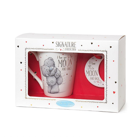 ''Love You To The Moon'' Mug & Plaque Gift Set