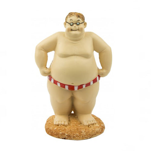 Swimmer Man Figurine (Red and White)