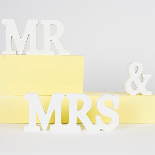 Mr & Mrs Letters Cream