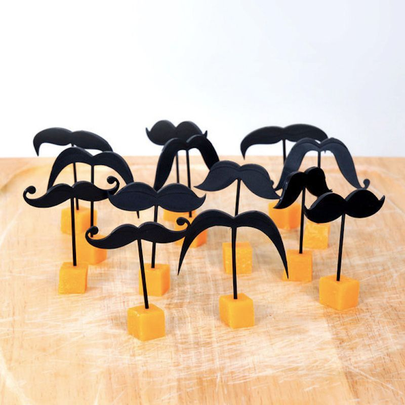 Mustache Toothpicks (set of 18)