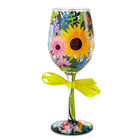 'Wildflowers' Wine Glass