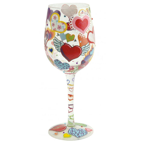 Heart-rageous Wine Glass
