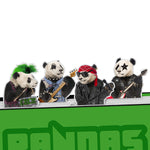 Pandas Rock Mangetic Bookmarks