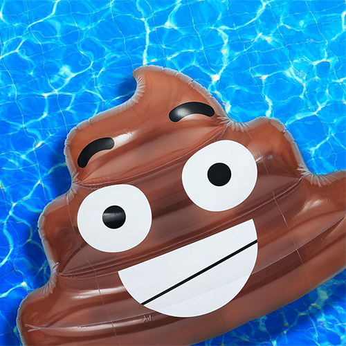 Poo Emoji Pool Float