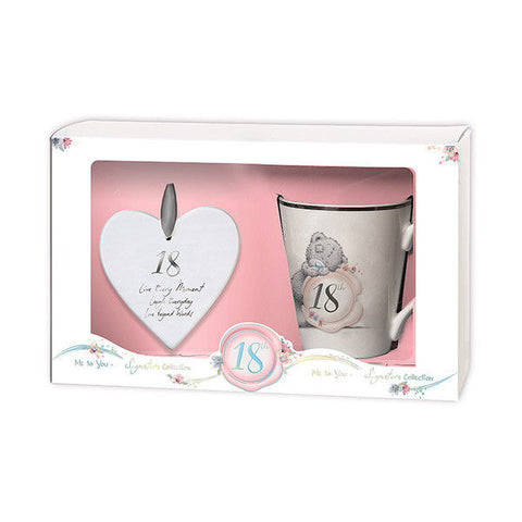 18th Birthday Mug & Plaque Me To You Bear Gift Set