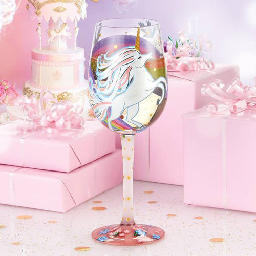 'Unicorn' Wine Glass