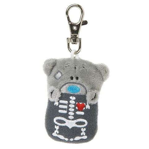 Skeleton Me to You Bear Plush Keyring