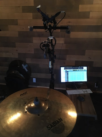 Pro Sound Effects Sonomar Collection Cymbals - Recording Setup