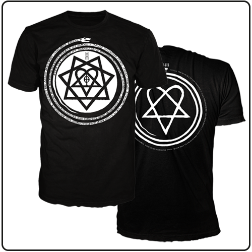 HEARTAGRAM SYMBOL WITH 2013 DATES BLACK TEE