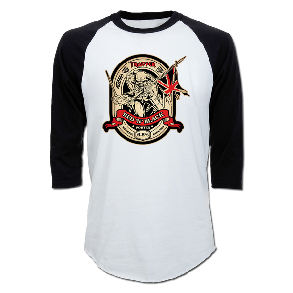 Trooper Red & Black Raglan