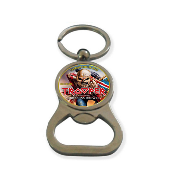 Trooper Beer Bottle Opener Keyring