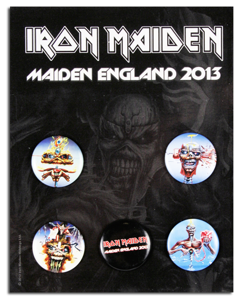 Maiden England 2013 Button Set