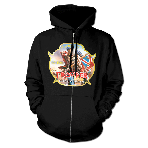 Trooper Beer Zip Hoodie-X-Large