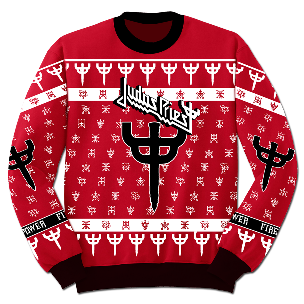 Firepower Christmas Knitted Sweater | Early Black Friday 2018 | Judas  Priest Store