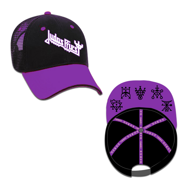 Mesh Trucker Cap with Tape Symbols