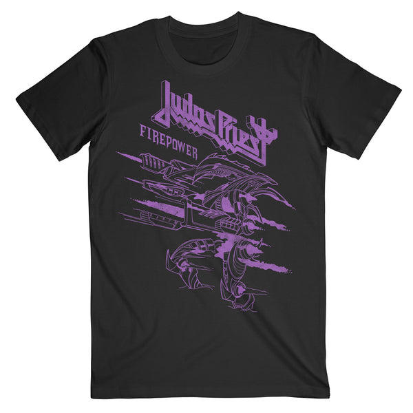 Line Drawing Firepower Purple Tee