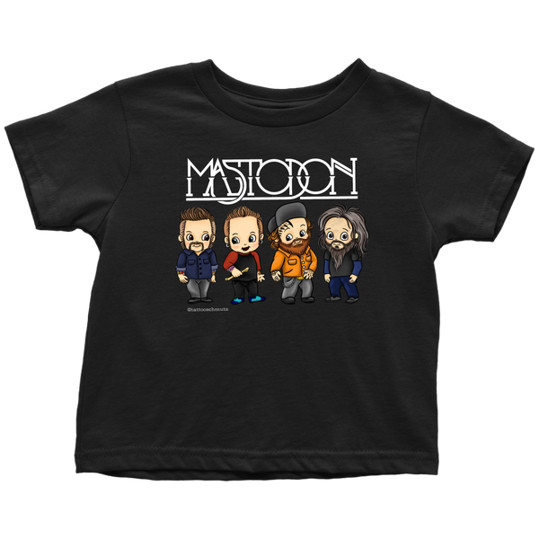 Cartoon Band Toddler Black Tee