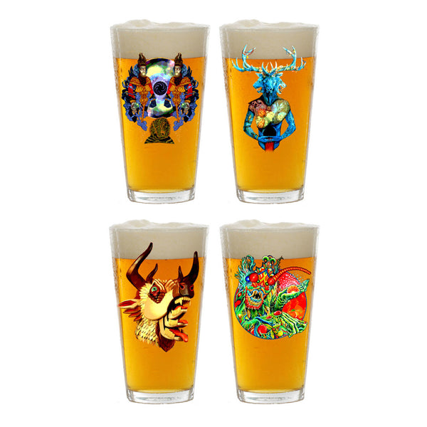 Album Cover Decal Pint Glass Set