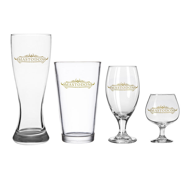 4pc Emperor of Sand Logo Glass Set