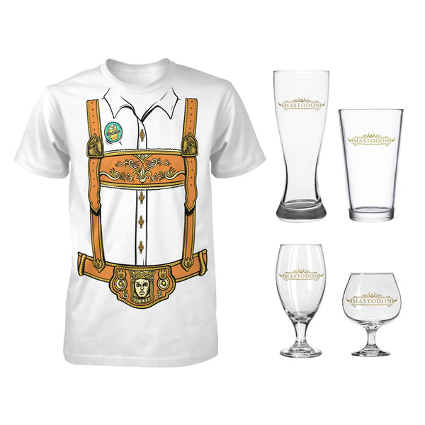 Oktoberfest Beer Glass Set & Tee Bundle