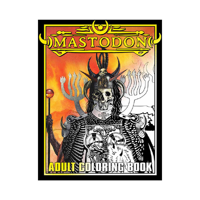 Mastodon Adult Coloring Book