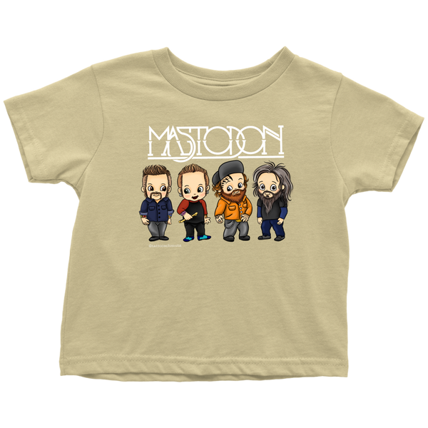 Cartoon Band Toddler Khaki Tee