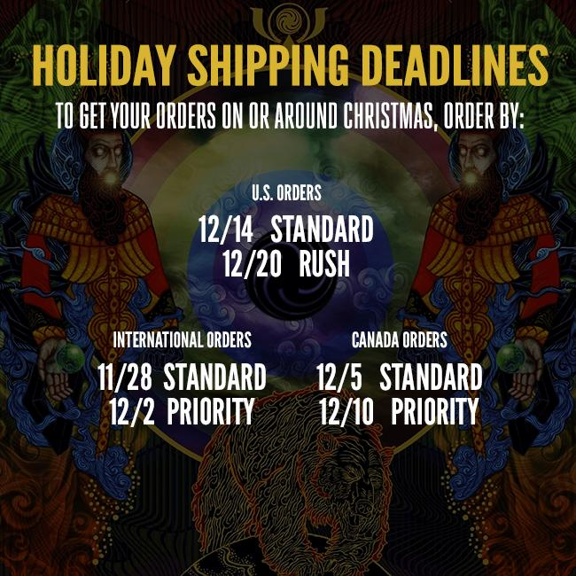 Shipping Deadlines for Mastodon Official Store