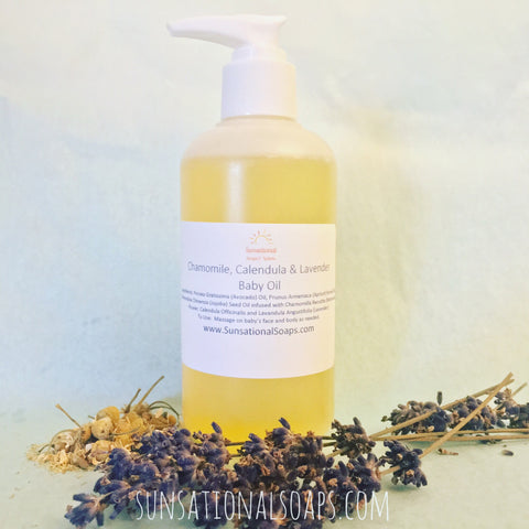 Chamomile,calendula and lavender baby oil