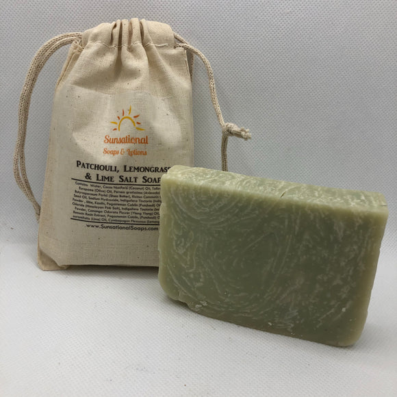Patchouli, Lemongrass & Lime Salt Soap