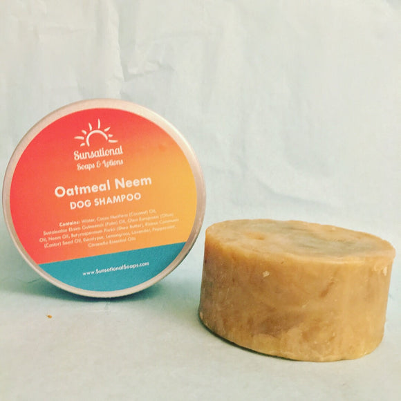 Oatmeal Neem Dog Shampoo Bar