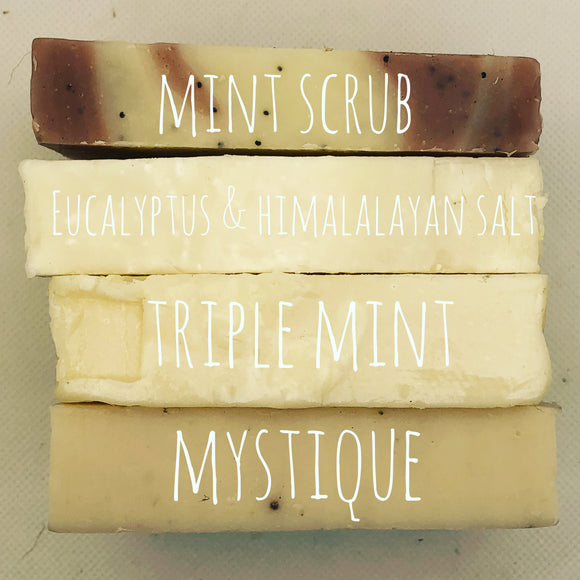 Unwrapped Mint 4-Pack Bar Soap Bundle