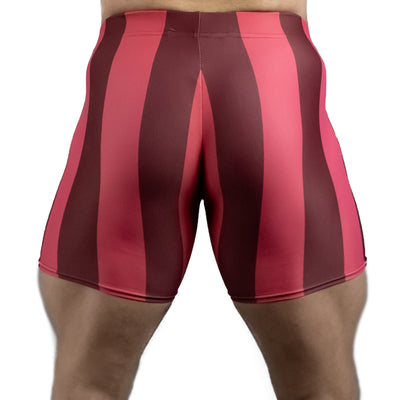 80's Retro Pomegranate Spandex Shorts