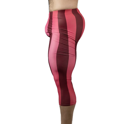 80's Retro Pomegranate 3/4 Bodybuilding Tights
