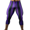 80's Retro Grape 3/4 Bodybuilding Tights