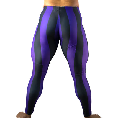 80's Retro Grape Bodybuilding Tights