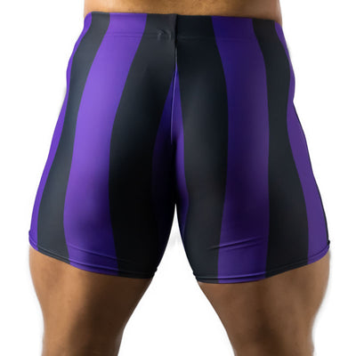 80's Retro Grape Spandex Shorts