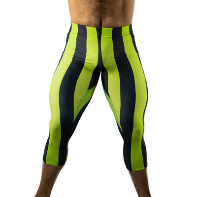 80's Retro Kiwi 3/4 Bodybuilding Tights